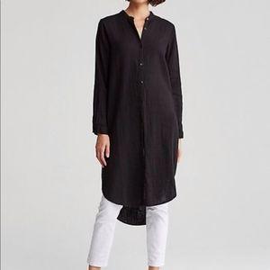 Eileen Fisher organic cotton gauze tunic shirt